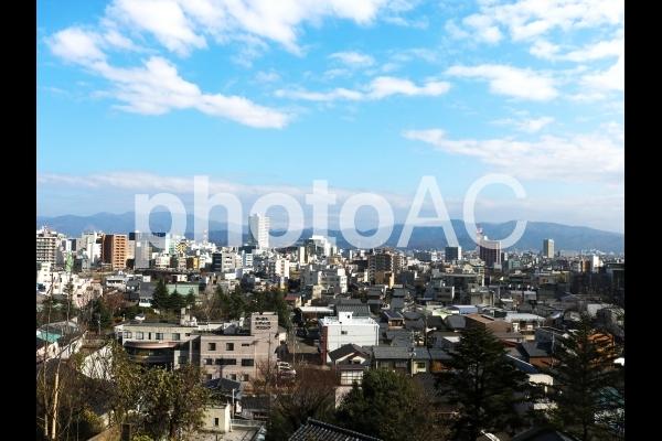 福井市の俯瞰風景 (足羽山より・秋)