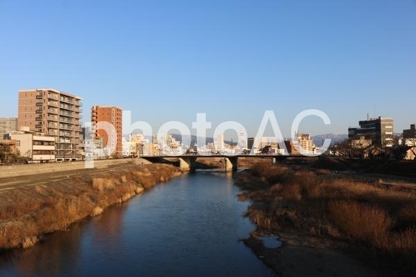 福井県の道路・橋 (幸橋・足羽川)