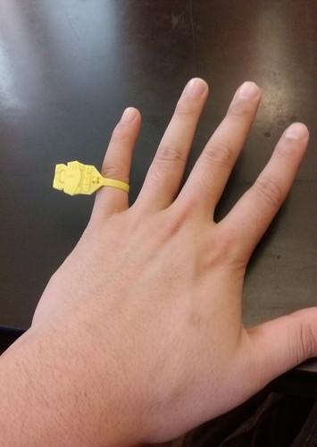 越前蟹タグ指輪