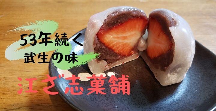 【伝統のジャンボいちご大福!】江ざ志菓舗